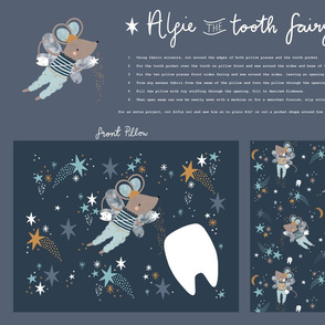 Alfie Tooth fairy DIY pillow minky