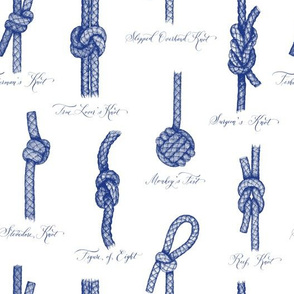 Nautical Knots (White and Navy)