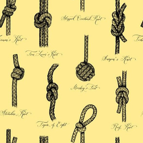 Nautical Knots (Yellow and Black)