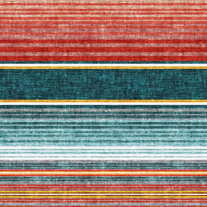 serape southwest stripes - teal -  LAD19