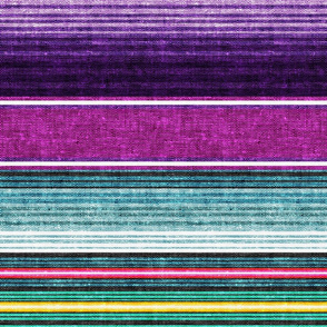 serape southwest stripes - purple -  LAD19