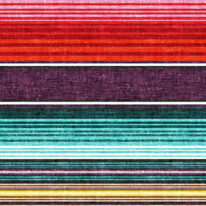 serape southwest stripes - red/plum -  LAD19