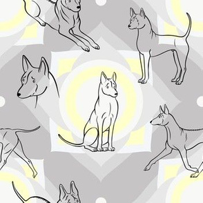 Thai Ridgeback Pattern (Light Grey Background)