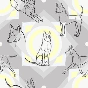 Thai Ridgeback Pattern (Light Grey Background)