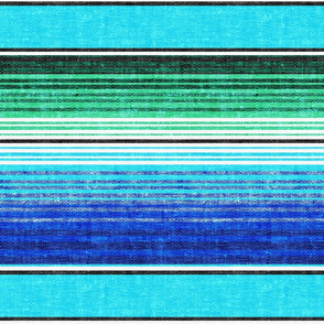 serape southwest stripes - bright blue -  LAD19