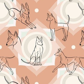 Thai Ridgeback Pattern (Terracotta Background)