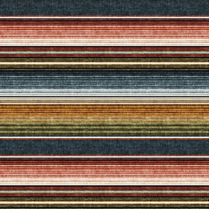 (small scale) serape southwest stripes - earth -  LAD19
