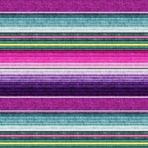 (small scale) serape southwest stripes - purple -  LAD19