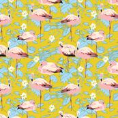 yellow_jungle_leaf_flamingo_01_stock