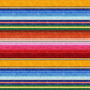 (small scale) serape southwest stripes - orange -  LAD19