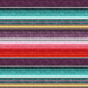 (small scale) serape southwest stripes - red/plum -  LAD19