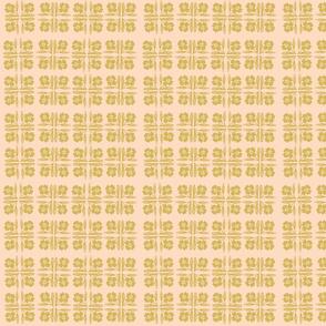 Gold Floral Squares on Blush