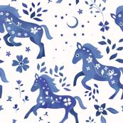 Delft Blue Horses