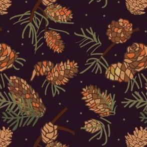 xmas flora | pinecones