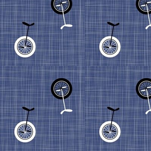 unicycles - denim blue