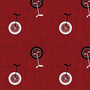 unicycles - red