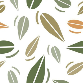 Large Woodland Leaves Wallpaper, Nature Lover Print
