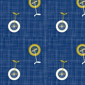 unicycles navy-mustard
