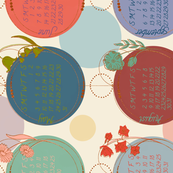 2020 polka dot tea towel calendar