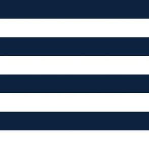 "notre dame stripe - blue, one inch stripes, 1"" stripe, 1"" navy stripes"