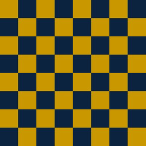 notre dame checkerboard - blue and gold checkerboard