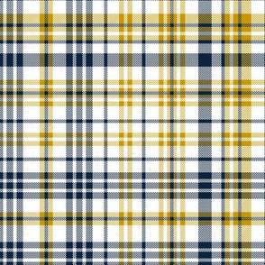 notre dame plaid - blue and gold plaid - gold and blue fabric