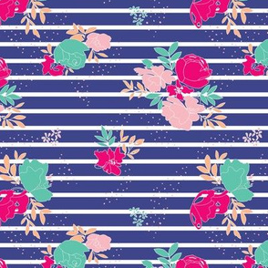 Bright Bold Floral + Stripe