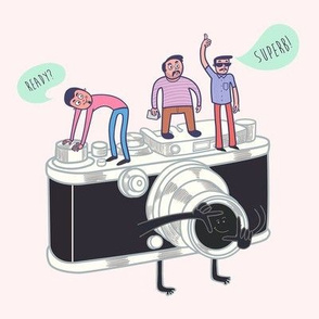 Say Cheese. Funny Camera Graphic