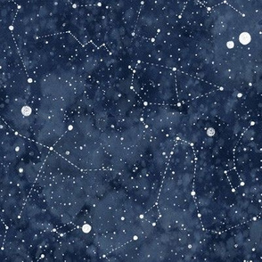 Star constellations handdrawn