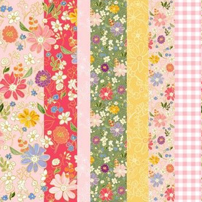 Happy Quilt Stripe Pink