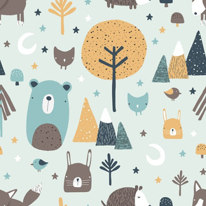 Forest Critter Pattern