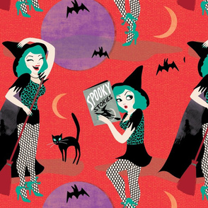 Pin up witch red by Mount Vic and Me