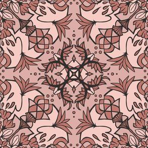 Mandala Lotus - Blush Pink