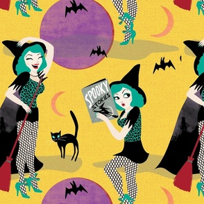 Pin up witch yellow by Mount VIc and Me
