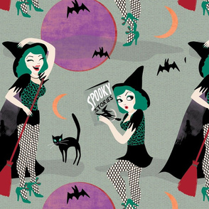 Pin up witch grey by Mount Vic and Me