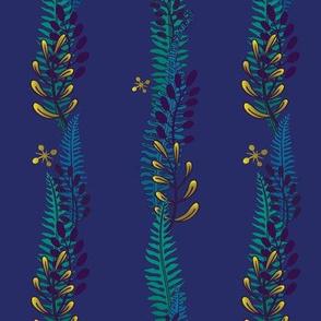 Night Fern Stripe-Blue