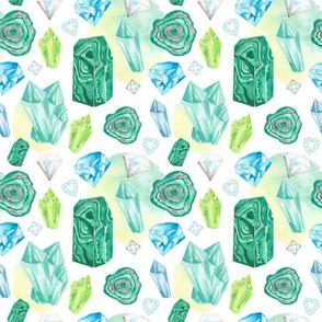 Watercolor crystals 2