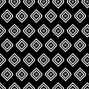 Diamond Cross Black White small