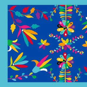 Mexican folk art otomi tea towel