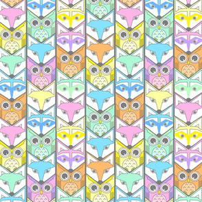woodland chevron pastel colors