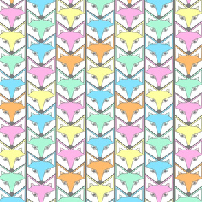 woodland fox chevron pastel colors