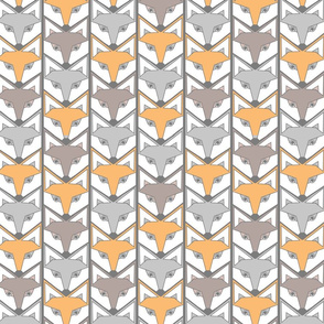 woodland fox chevron