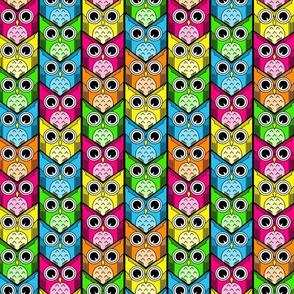 woodland owl chevron bright colors