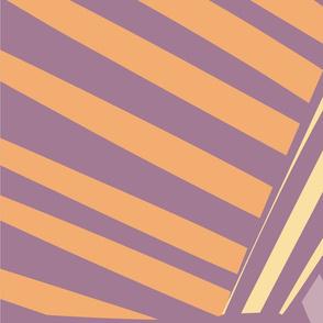 Purple Yellow Abstract Pattern