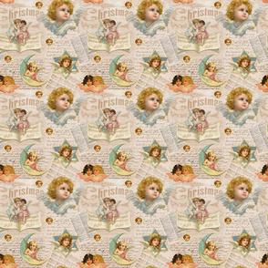 Nostalgic Angels Christmas Pattern