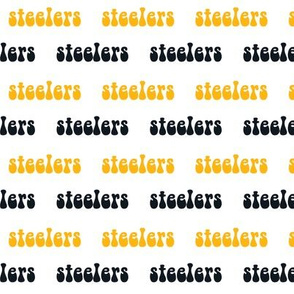 steelers groovy text - steelers fabric, steelers design - text