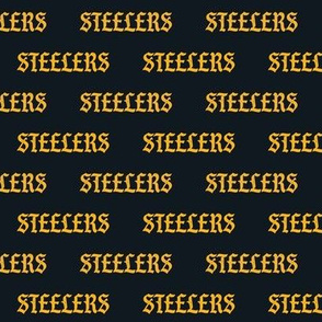 steelers fabric - steelers text, black and gold steelers fabric