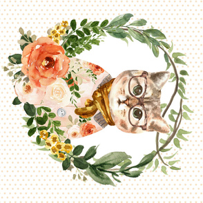 "42""x36"" Miss Kitty Floral Wreath"