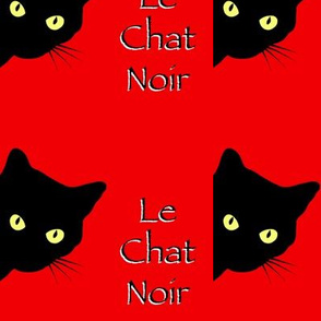 Peek-a-Boo Black Cats - red - Le Chat Noir (large)