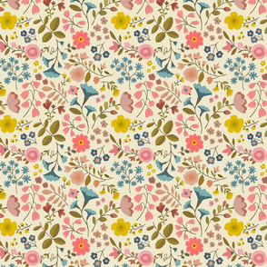 WOODLAND FLOWERS ditsy cream
